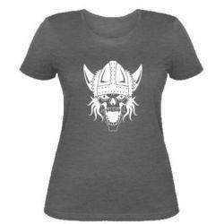 Женская футболка Череп с рогами