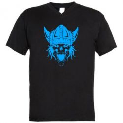 Чоловіча футболка з V-подібним вирізом Череп з рогами