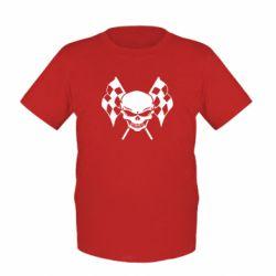 Детская футболка Череп Стрит Рейсинг