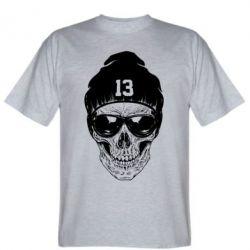 Мужская футболка Череп в шапке - FatLine