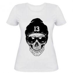 Женская футболка Череп в шапке - FatLine
