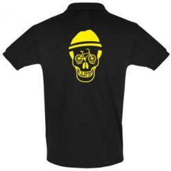 Мужская футболка поло Череп велосипедиста