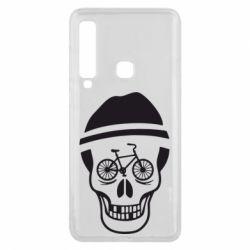 Чехол для Samsung A9 2018 Череп велосипедиста
