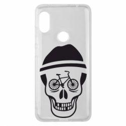 Чехол для Xiaomi Redmi Note 6 Pro Череп велосипедиста