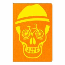 Блокнот А5 Череп велосипедиста
