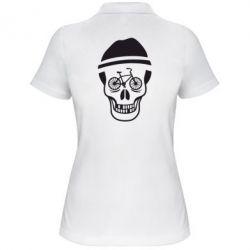 Женская футболка поло Череп велосипедиста