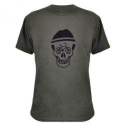 Камуфляжная футболка Череп велосипедиста - FatLine