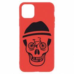 Чехол для iPhone 11 Череп велосипедиста