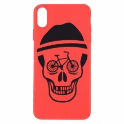 Чехол для iPhone X/Xs Череп велосипедиста