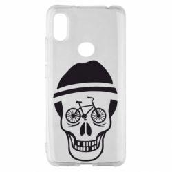Чехол для Xiaomi Redmi S2 Череп велосипедиста