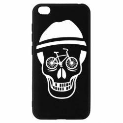 Чехол для Xiaomi Redmi Go Череп велосипедиста