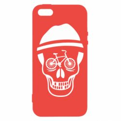 Чехол для iPhone5/5S/SE Череп велосипедиста