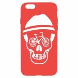 Чехол для iPhone 6/6S Череп велосипедиста