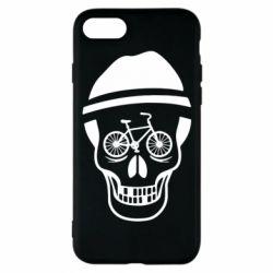 Чехол для iPhone 8 Череп велосипедиста