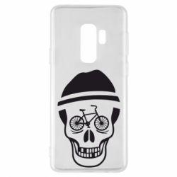 Чехол для Samsung S9+ Череп велосипедиста