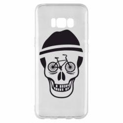 Чехол для Samsung S8+ Череп велосипедиста