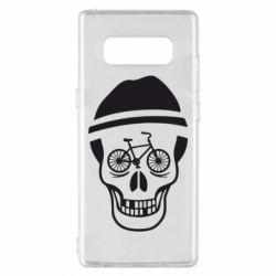 Чехол для Samsung Note 8 Череп велосипедиста