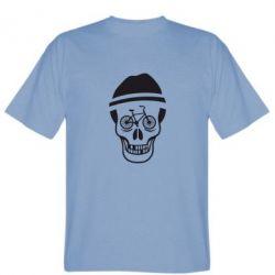 Мужская футболка Череп велосипедиста - FatLine