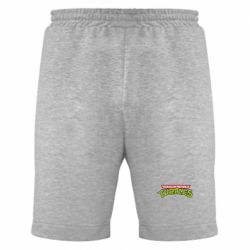 Мужские шорты Черепашки ниндзя логотип - FatLine