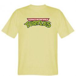 Мужская футболка Черепашки ниндзя логотип - FatLine