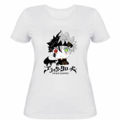 Женская футболка Черный клевер Аста