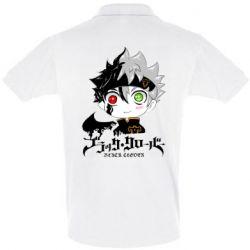 Мужская футболка поло Черный клевер Аста