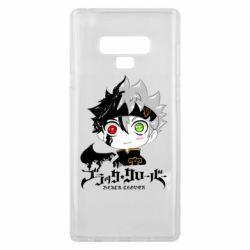 Чехол для Samsung Note 9 Черный клевер Аста