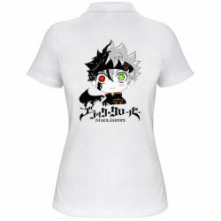 Женская футболка поло Черный клевер Аста
