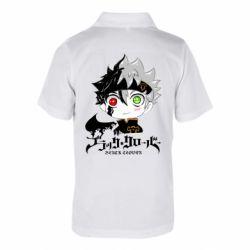 Детская футболка поло Черный клевер Аста