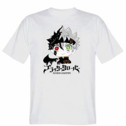 Мужская футболка Черный клевер Аста