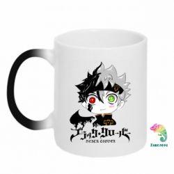 Кружка-хамелеон Черный клевер Аста