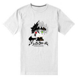 Мужская стрейчевая футболка Черный клевер Аста