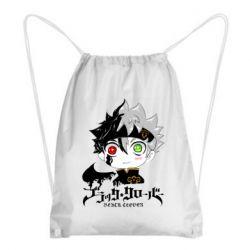 Рюкзак-мешок Черный клевер Аста