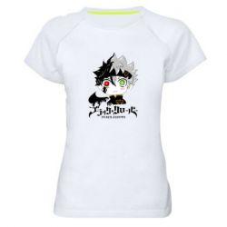 Женская спортивная футболка Черный клевер Аста