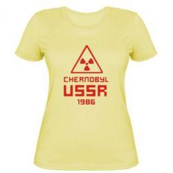 Женская футболка Chernobyl USSR