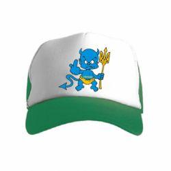 Дитяча кепка-тракер Чортик з тризубом