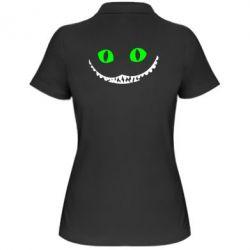 Женская футболка поло чеширский кот - FatLine