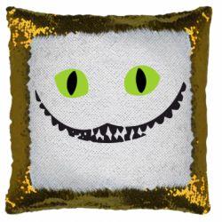 Подушка-хамелеон чеширский кот