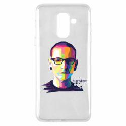 Купить Linkin Park, Чехол для Samsung A6+ 2018 Chester Art, FatLine