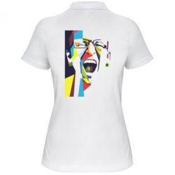 Женская футболка поло Chester Bennington Art
