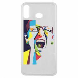 Купить Чехол для Samsung A6s Chester Bennington Art, FatLine