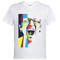 Чоловіча футболка з V-подібним вирізом Chester Bennington Art