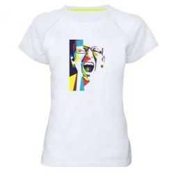 Женская спортивная футболка Chester Bennington Art
