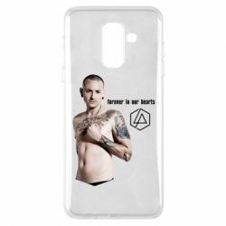 Купить Linkin Park, Чехол для Samsung A6+ 2018 Chester Bennington Forever in our hearts, FatLine