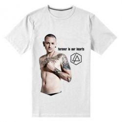 Купить Мужская стрейчевая футболка Chester Bennington Forever in our hearts, FatLine