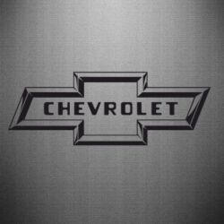 Наклейка Chevrolet 3D - FatLine