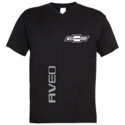 Мужская футболка  с V-образным вырезом Chevrolet Aveo - FatLine