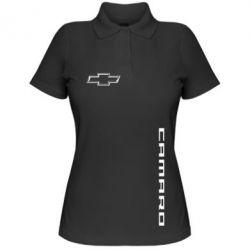 Женская футболка поло Chevrolet Camaro