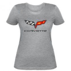 Женская футболка Chevrolet Corvette - FatLine