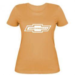 Женская футболка Chevrolet Log - FatLine